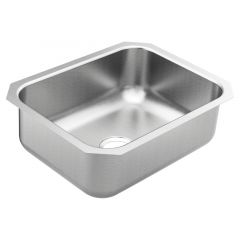 Moen - 1800 Series - 23.5x18.25x8 Stainless Steel 18-Gauge Undermount Single Bowl Sink