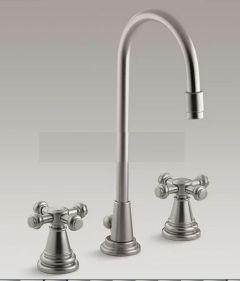 K-6813-3-BN - IV Georges Brass - Widespread bathroom sink faucet