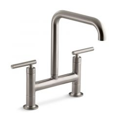 Kohler - Purist Series Kitchen Faucet Two Handle - Bridge Faucet