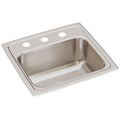 Elkay - Lustertone Classic 17in x 16in x 7-5/8in Single Bowl 3-Hole Drop-in Sink