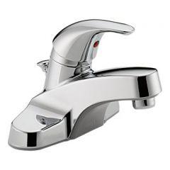 Peerless - Core Series Bathroom Faucet with Metal Pop-up Drain Single Handle Lever