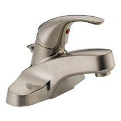 Peerless - Choice Series Bathroom Faucet with Metal Pop-up Drain Single Handle Lever