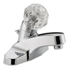 Peerless - Choice Series Bathroom Faucet with Pop-up Drain Single Handle Acrylic