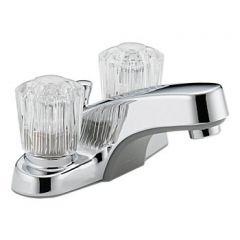 Peerless - Core Series Bathroom Faucet with Metal Pop-up Drain Two Handle Acrylic