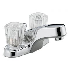 Peerless - Core Series Bathroom Faucet with Pop-up Drain Two Handle Acrylic