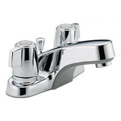 Peerless - Core Series Bathroom Faucet with Metal Pop-up Drain Two Handle Tea Cup