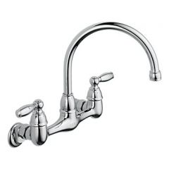 Peerless - Apex Series Wall Mount Kitchen Faucet Two Handle