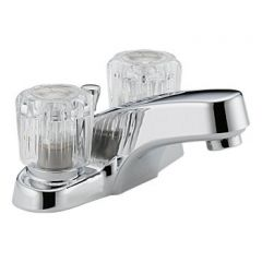 Peerless - Choice Series Bathroom Faucet with Pop-up Drain Two Handle Acrylic