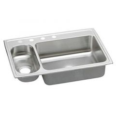 Elkay - Stainless Steel 33 Inch x 22 Inch x 7.25 Inch Double Bowl Top Mount Kitchen Sink