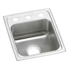 Elkay - Celebrity Stainless Steel 15in x 17-1/2in x 7-1/8in - Single Bowl Drop-in Bar Sink