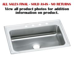 Elkay - Pacemaker Series 33in x 22in x 7.25in Single Bowl Top Mount Sink