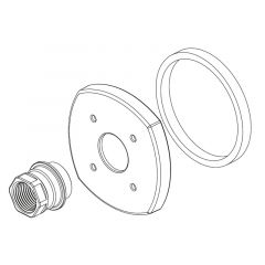 Delta - Stryke - Handle Flange & Gasket - WM Tub Filler - Repair Part