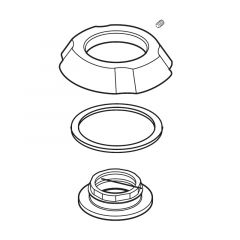 Delta - Addison Series -  Flange Assembly - Widespread