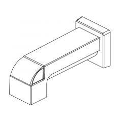 Delta - Ara Series Tub Spout - Pull-Up Diverter