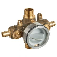 American Standard - Flash Pressure Balance Rough-in Valve With Pex Inlets Universal Outlets - Crimp Connections With Screwdriver Stops