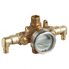 American Standard - Flash Pressure Balance Rough-in Valve With Pex Inlet Elbows Universal Outlets - Cold Expansion Connections With Screwdriver Stops