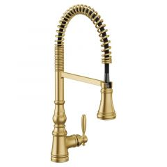 Moen - Weymouth One-Handle Pre-Rinse Spring Pulldown Kitchen Faucet