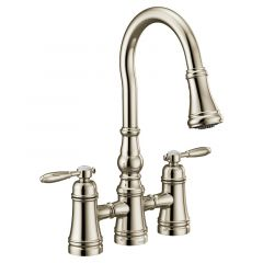 Moen - Weymouth Two-Handle High Arc Pulldown Kitchen Faucet