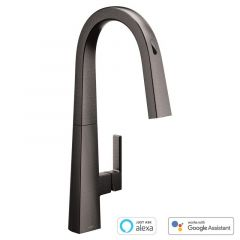 Moen - U by Moen - Nio Voice-Activated Smart Single Handle Kitchen Faucet