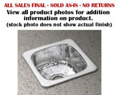 Elkay - SPECIALTY COLLECTION  Bar Sink