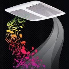 Broan - Ventilation Fans With Bluetooth Wireless Technology Sensonic Speaker Fan 110 CFM 1.0 Sones
