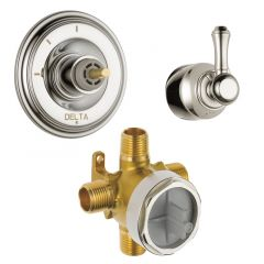 Delta - Cassidy Diverter Trim 3-Function + Valve + Lever Handle Combo Package