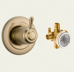 Delta - Classic Series Trim + Rough - In Valve Combo Package 6 Setting Diverter