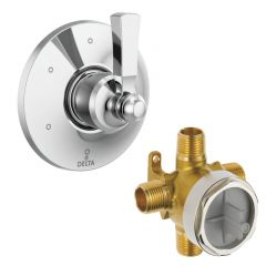 Delta - Dorval 6-Setting Diverter Trim with Lever Handle + Valve Combo Package