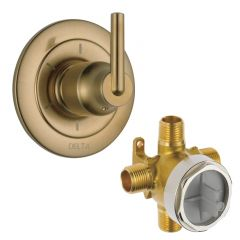 Delta - Trinsic Series Trim + Rough - In Valve Combo Package 6 Setting Diverter