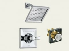 Delta - Dryden Series Trim + Rough - In Valve Combo Package Single Handle - Shower Only
