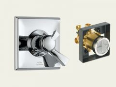 Delta - Dryden Series Trim + Rough - In Valve Combo Package Single Handle - Pressure Balance Valve Only