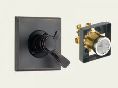 Delta - Dryden Series Trim + Rough - In Valve Combo Package Single Handle - Pressure Balance - Valve Only
