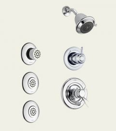 Delta - Innovations Series With Body Spray Trim Kit Single Handle Shower