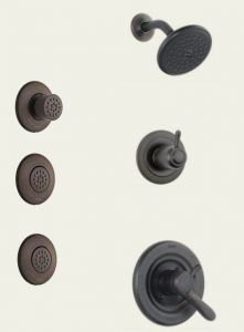 Delta - Lahara Series Water Efficient - Shower And Body Spray Trim Kit Single Handle - 17 Series