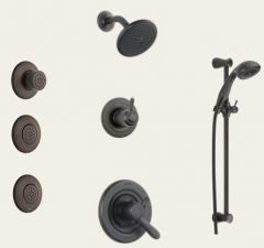Delta - Lahara Series Shower - Handheld Shower - And Body Spray Trim Kit Single Handle - 17 Series Water Efficient