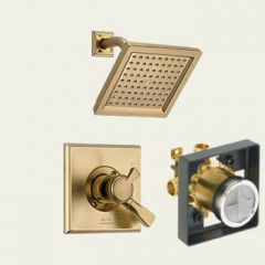 Delta - Dryden Series Trim + Rough - In Valve Combo Package Single Handle Shower Only