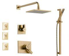 Delta - Vero Series Shower - Handheld Shower - And Body Spray Trim Kit Single Handle