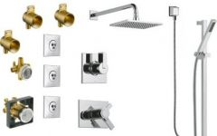 Delta - Vero Series Shower - Hand Shower - And Body Sprays Combo Pkg Single Handle