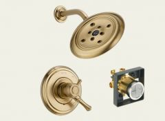 Delta - Cassidy Series Trim + Rough - In Valve Combo Package Pressure Balanced - Single Handle Shower Only