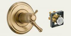 Delta - Cassidy Series Trim + Rough - In Valve Combo Package Thermostatic - Single Handle Valve Only