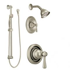 Moen - Kingsley Vertical Spa Posi-Temp Shower Head/Hand Shower Combo - Trim Only