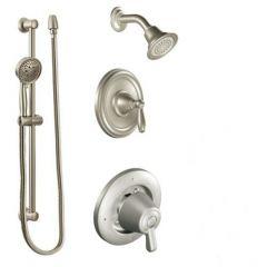 Moen - Brantford Vertical Spa Posi-Temp Shower Head/Hand Shower Combo- Trim Only