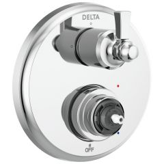 Delta - Dorval Traditional 2-Handle Monitor 14 Series Valve Trim with 3 Setting Diverter - LESS Handle