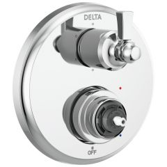 Delta - Dorval Traditional 2-Handle Monitor 14 Series Valve Trim with 6 Setting Diverter - LESS Handle