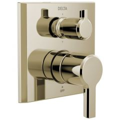 Delta - Pivotal Series 2-Handle Monitor 14 Series Valve Trim with 6 Function Diverter