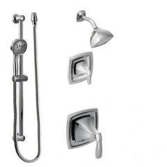 Moen - Voss Vertical Spa Posi-Temp Shower Head/Hand Shower Combo - Trim Only