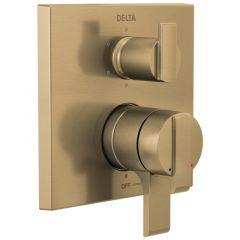 Delta - Angular Modern Tesla / Zura / Vero / Dryden / Ara / Ashlyn Valve Trim w/ 6-Setting Diverter