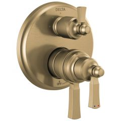 Delta - Dorval Traditional 2-Handle Monitor 17T Series Valve Trim with 3 Setting Diverter