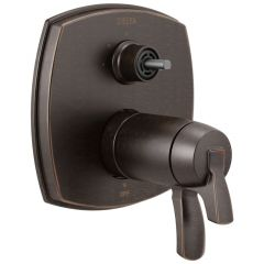 Delta - Stryke 17 Thermostatic Integrated Diverter Trim with Three Function Diverter - Less Diverter Handle
