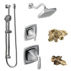 Moen - Voss Series Moentrol Multi-function - Vertical Spa Shower Head/Hand Shower with Separate Valves Combo